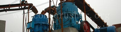 30t/h Slag-Manufactured Product Line- Cone Crusher