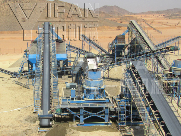 SMH-hydraulic Cone Crusher Project stone product line